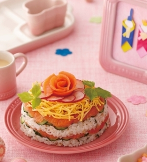 [ル・クルーゼ公式] 桃の節句_サーモンちらし寿司