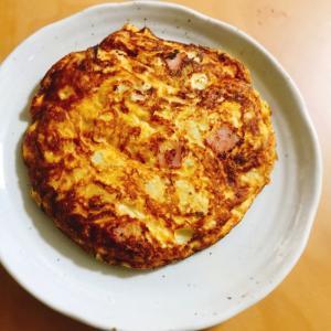 【夫婦のおつまみ】ハムとキャベツの卵焼き