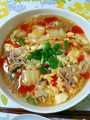 【簡単】本格!酸辣湯麺(サンラータン麺)