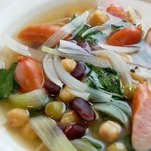 バジル&ミックスビーンズのスープ