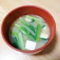 小松菜*豆腐の味噌汁✧˖°