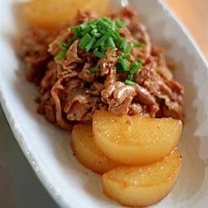 豚肉と大根の甘辛煮