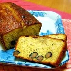 黒豆とほうじ茶の和風パウンドケーキ