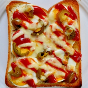 ピリ辛ハラペーニョのたまごトースト