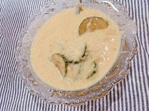 黒酢大根おろしの豆乳和風冷製スープ
