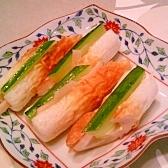 ちくわの新生姜甘酢漬け・きゅうりサンド