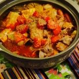 トマトキムチ鍋(キムチ鍋の素を使って)