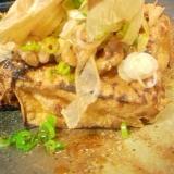 厚揚げの味噌納豆チーズ焼