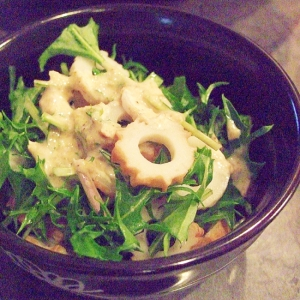簡単!あと一品☆水菜とちくわの和風マヨ和え