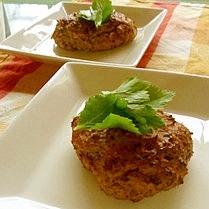 鰯だけで作る鰯のシソ生姜薬味ハンバーグ