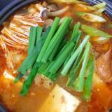 ツナキムチの豆腐チゲ
