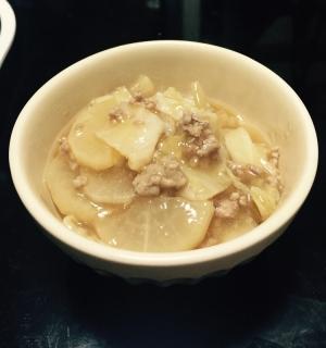 寒い冬に◎大根・白菜・ひき肉のあんかけ
