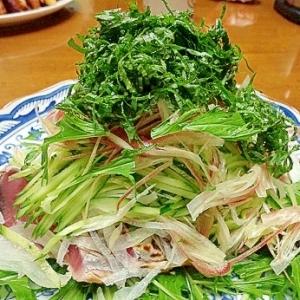 野菜たっぷりのかつおタタキ