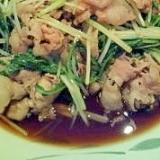 あっさりした和の味がおいしい!水菜と豚肉の炒め煮