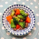 ブロッコリーと砂肝の彩り中華炒め