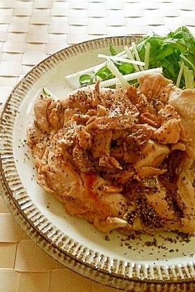 しっとり♪鷄むね肉と舞茸のソテー