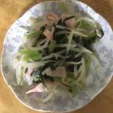 もやしと小松菜の香味ペースト炒め
