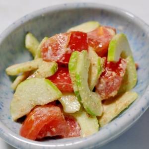 白瓜とトマトのマヨポンサラダ