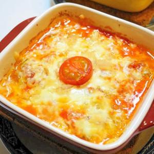 ワインのお供!オイルサーディンとトマトのチーズ焼き