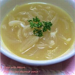 新たまねぎの冷製スープ