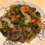 たっぷり野菜のプルコギ風甘辛炒め