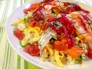 彩り鮮やか☆海鮮たっぷりちらし寿司