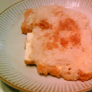厚揚げの手芋焼き、生姜・昆布つゆで