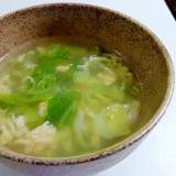 ウェイパーで☆キャベツと卵の中華スープ