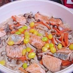 土鍋でほっこり☆秋の炊き込み御飯