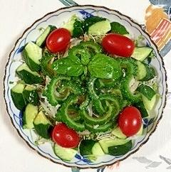 ゴーヤとブロッコリースプラウトのサラダ♪