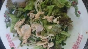 豚ニラもやしのスタミナ南蛮サラダ
