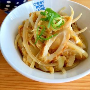 麺つゆで簡単に☆木の葉丼風