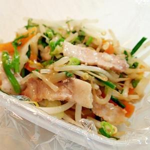 豚バラ肉とミックス野菜と葱の創味炒め