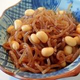 簡単 糸蒟蒻と水煮大豆の煮物