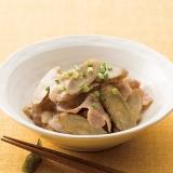 ごぼうと豚バラ肉のおいしい酢炒め