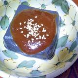 胡麻豆腐の蜂蜜辛子味噌
