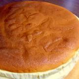 水切りヨーグルトを使ったスフレチーズケーキ