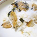浅利と味醂醤油生姜煮と酢飯グリル