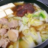 鍋キューブで☆鶏肉と白菜の寄せ鍋