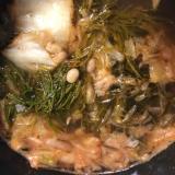 ギバサと納豆のネバネバキムチの冷たいスープ