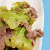 簡単!炒め物(^^)豚肉+キャベツ+ピクルス♪