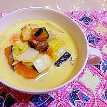海老と野菜のクリームスープ