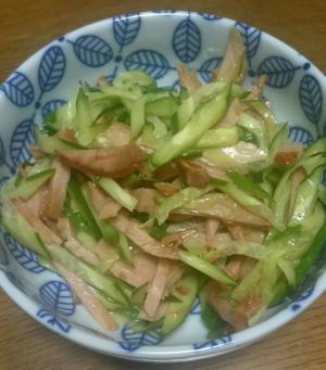 簡単おつまみ☆焼き豚ときゅうりの中華風