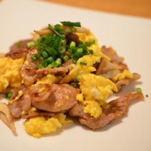 簡単☆エリンギと豚肉とたまごの炒め物