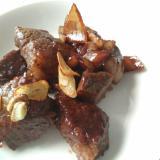 煮込み用牛肉で、サイコロステーキ