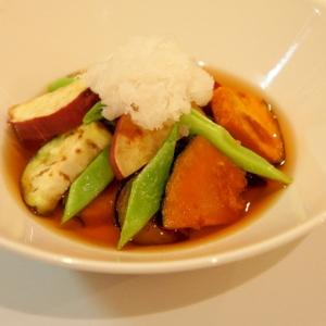 旬の味覚をお手軽に♪栄養たっぷり野菜の揚げびたし