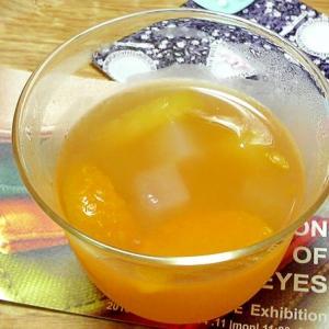 フルーツの缶詰を使った蜂蜜ゼリー