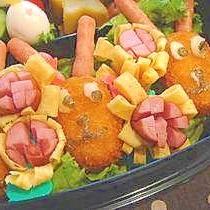 簡単キャラ弁☆名犬チーズのコロッケ
