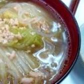 簡単!美味しい!鶏と白菜と春雨のスープ