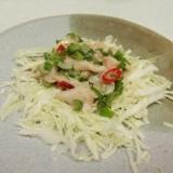 ピリ辛さっぱり!真鯛のおつまみサラダ